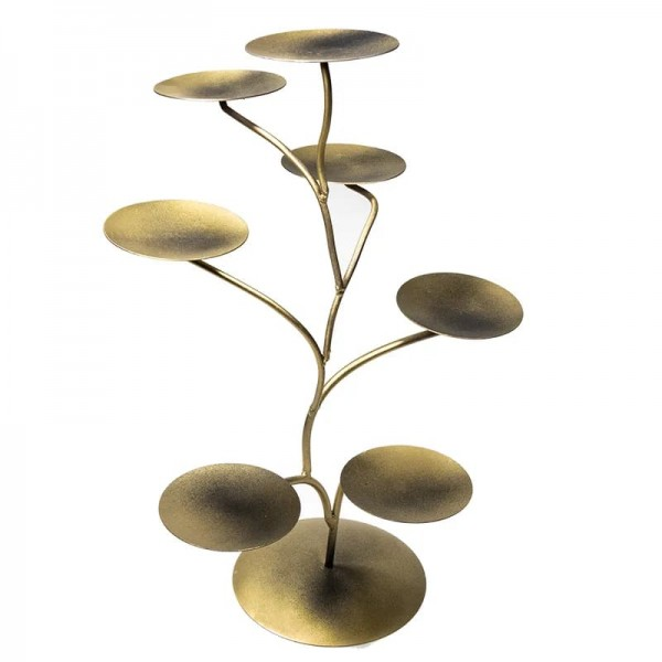 Display für 7 Chakra Lotus-Kerzenhalter metal -- 57x35 cm