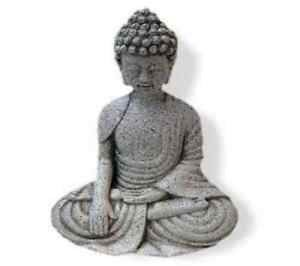 Buddha Touching the Earth stonegrey 39 cm