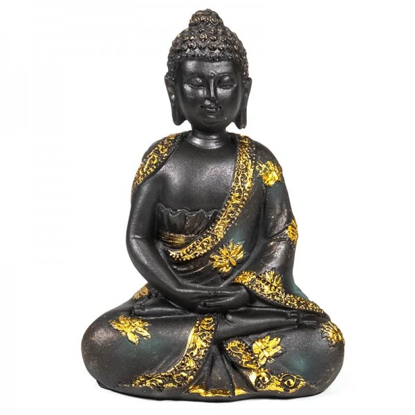 Meditierender Buddha in antikem Look -- 230 g; 12x8x16 cm