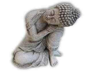 Peaceful Buddha stonegrey 19,5cm